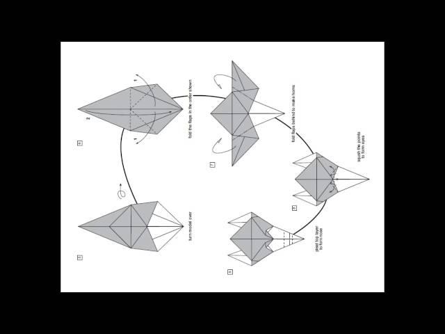 origami instrucciones de plegado : máscara de fantasía