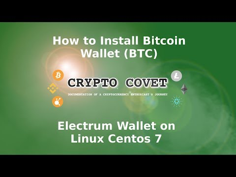 How To Install Bitcoin (BTC) Electrum Wallet On Linux Centos 7