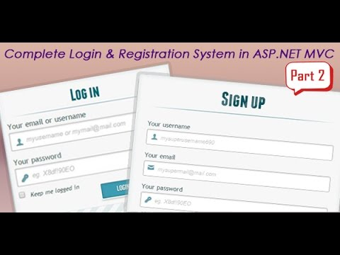 Part 2 - Complete login and registration system in ASP NET MVC