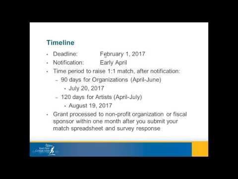East Bay Fund for Artists Informational Webinar - 01/09/2017