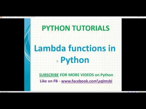 Python tutorial | Lambda Functions in Python | python anonymous function thumbnail