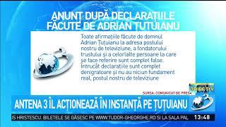 Antena 3 îl acționează în instanță pe Adrian Țuțuianu
