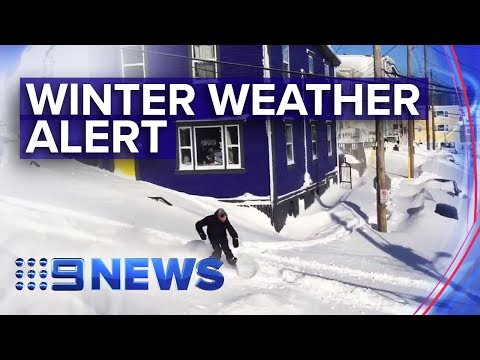 Winter Weather Alert In The US | Nine News Australia