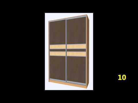 Варианты дверей для шкафа купе с горизонтальными разделителями
