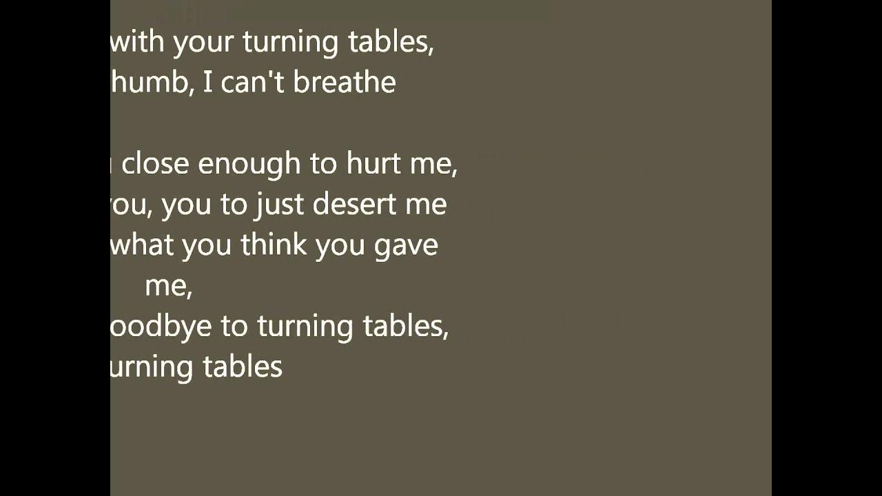 Adele  Turning Tables With Lyrics  Youtube