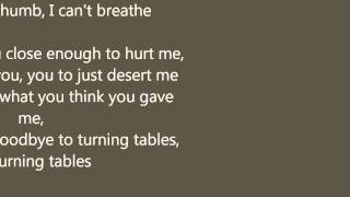 Adele - Turning Tables with lyrics