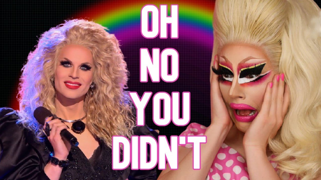 trixie being shocked by katya mega compilation