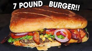 Kenny's 7lb Burger Challenge in Frisco, Texas!! (7,000 Calories)