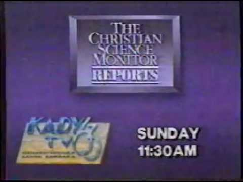 KADY Christian Science Monitor Reports Promo 1988