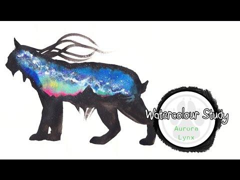 Aurora Lynx Watercolour.