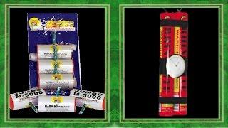 Fireworks Demo (Firecrackers) - Jumbo M-5000 (World Class), Rhinomite Head Bomb (Red Rhino)