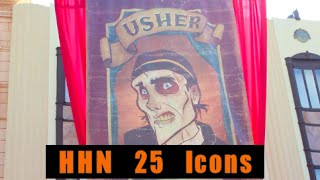 "HHN 25 scare-zone ""Icons"" (Hollywood Blvd)"