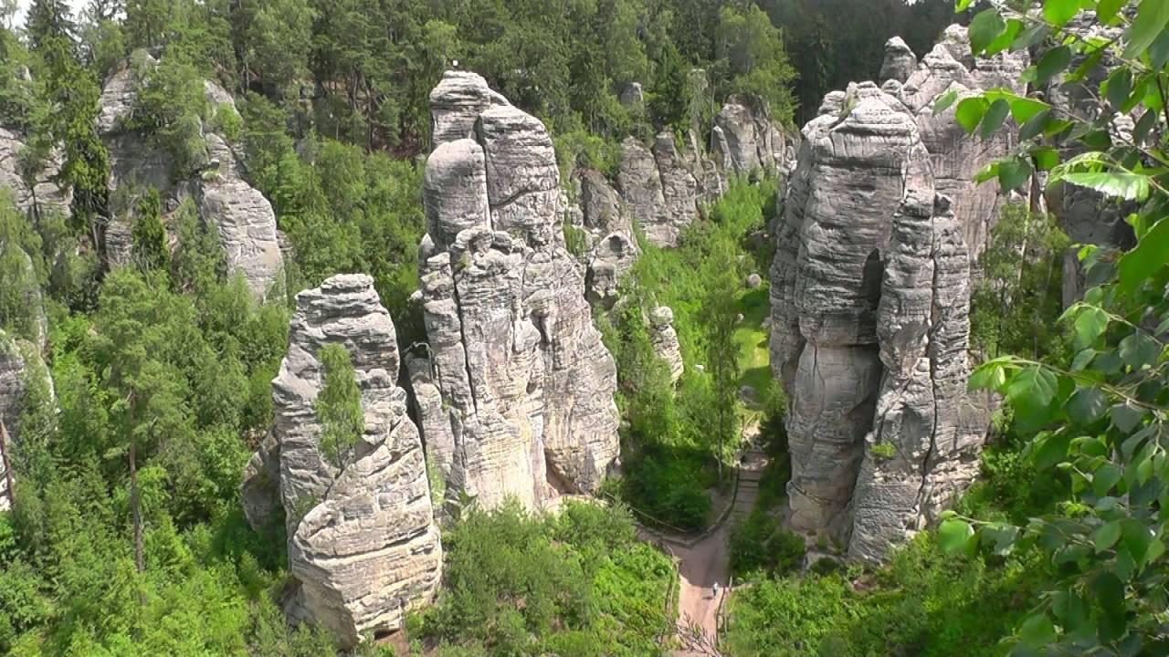 Czech Republic Prachov Rocks Bohemian Paradise Hd-Video -8881