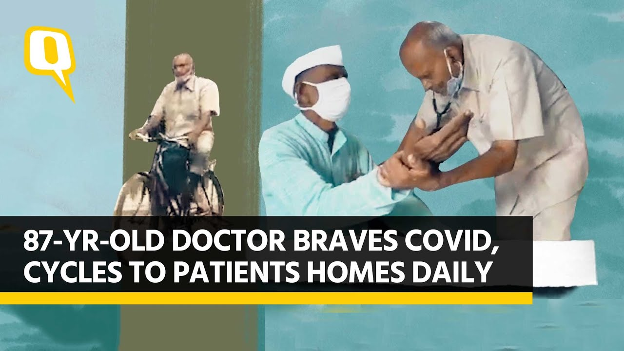 Braving COVID, Cycling to Patients: A Day in Life of 87-Yr-Old Doc | The Quint