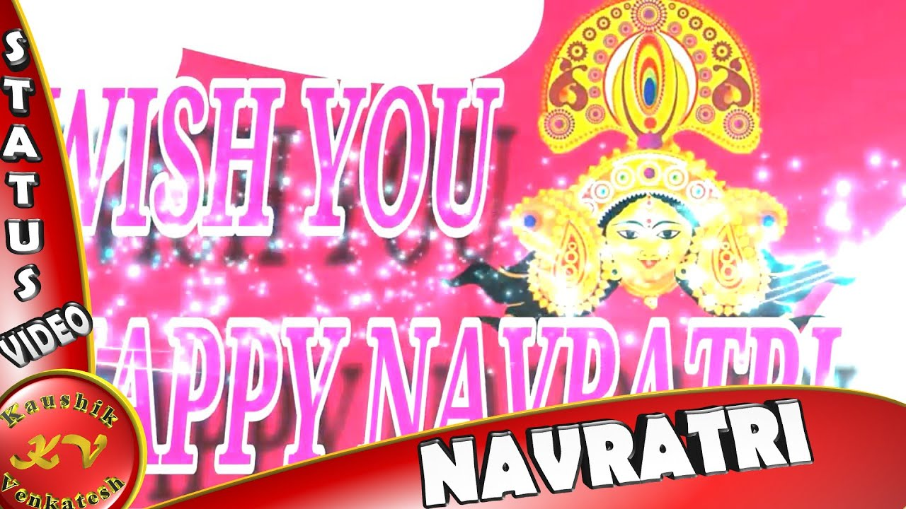 Happy navratrifestival wisheswhatsapp statusgreetingsanimation happy navratrifestival wisheswhatsapp statusgreetingsanimationmessages navratri video youtube kristyandbryce Choice Image