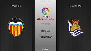 Rueda de prensa Valencia vs R. Sociedad