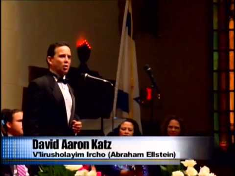 "David Aaron Katz sings ""V'lirushalayim Ircho"" in Miami 2013"