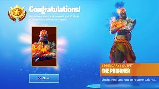 The STAGE 4 PRISONER Skin in Fortnite...
