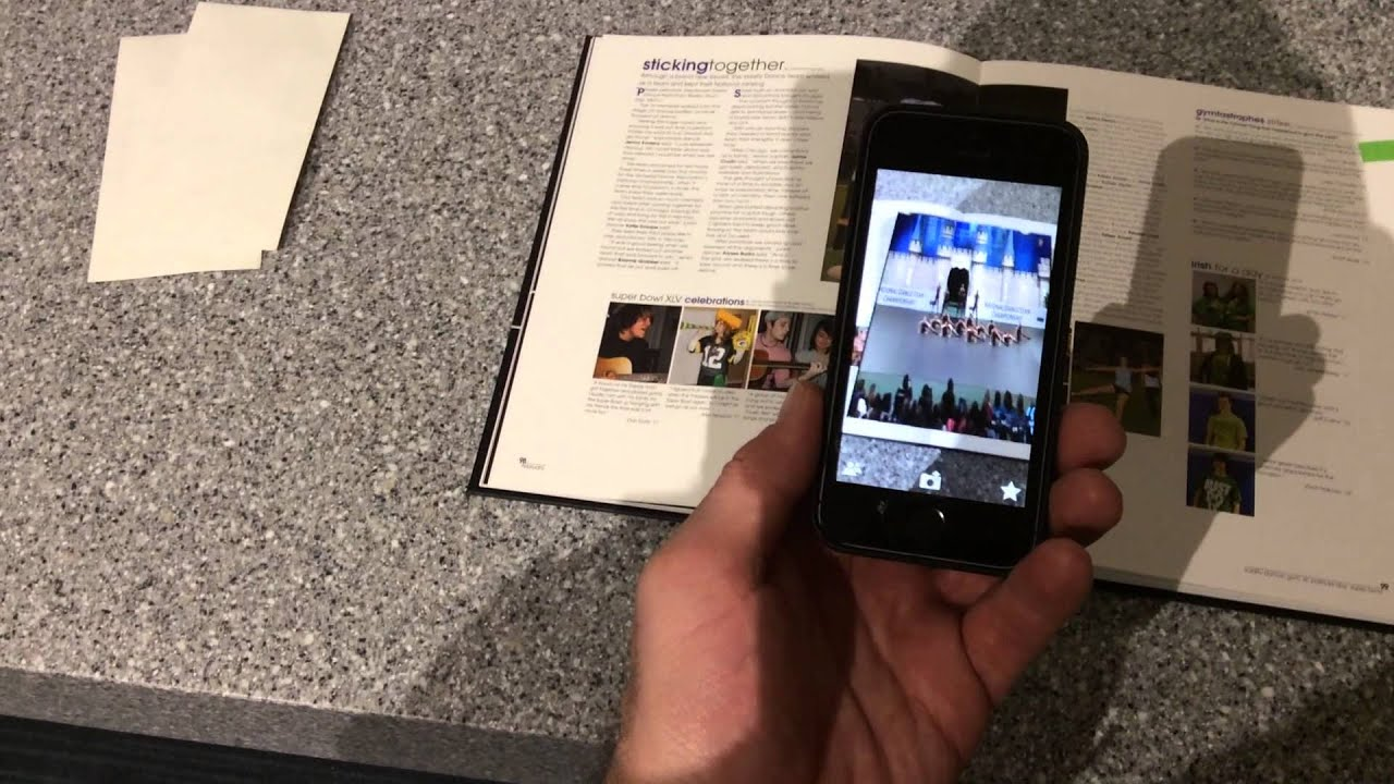 augmented reality yearbook example youtube