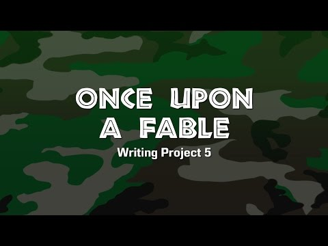 Lesson Sample (Grades 1-3) Once Upon a Fable Writing Project