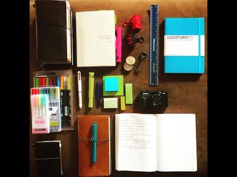 Arena Journaling with Midori Travelers Notebook