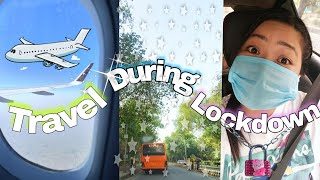 Travelling Safely During Lockdown ✈️😷 / 🌼🍀Back to Home 🏠 vlog ☺️