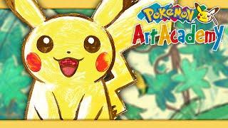 Pokémon Art Academy - Drawing Pikachu and Oshawott!
