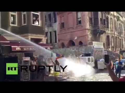 Turkey: See water cannon BLAST LGBT festival goers in Istanbul