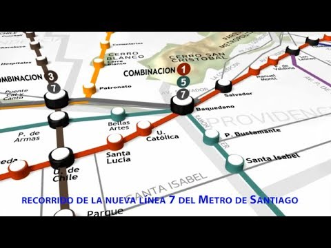 Conoce El Recorridos De La Nueva Linea 7 Del Metro De Santiago Y Sus 21 Estaciones Youtube