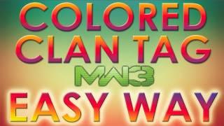 Modern Warfare 3: Change Clan Tag & Gamertag Color *EASY WAY*