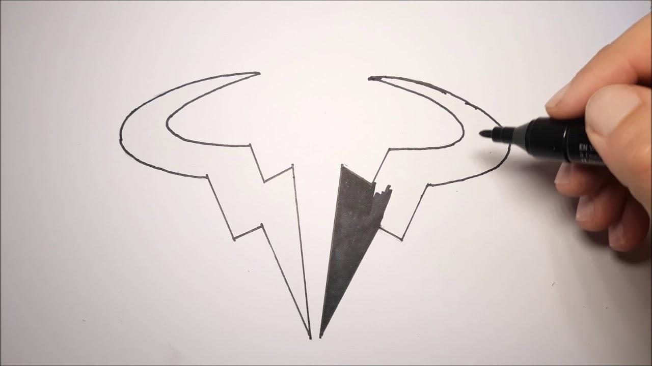 How To Draw Rafael Nadal Logo Youtube