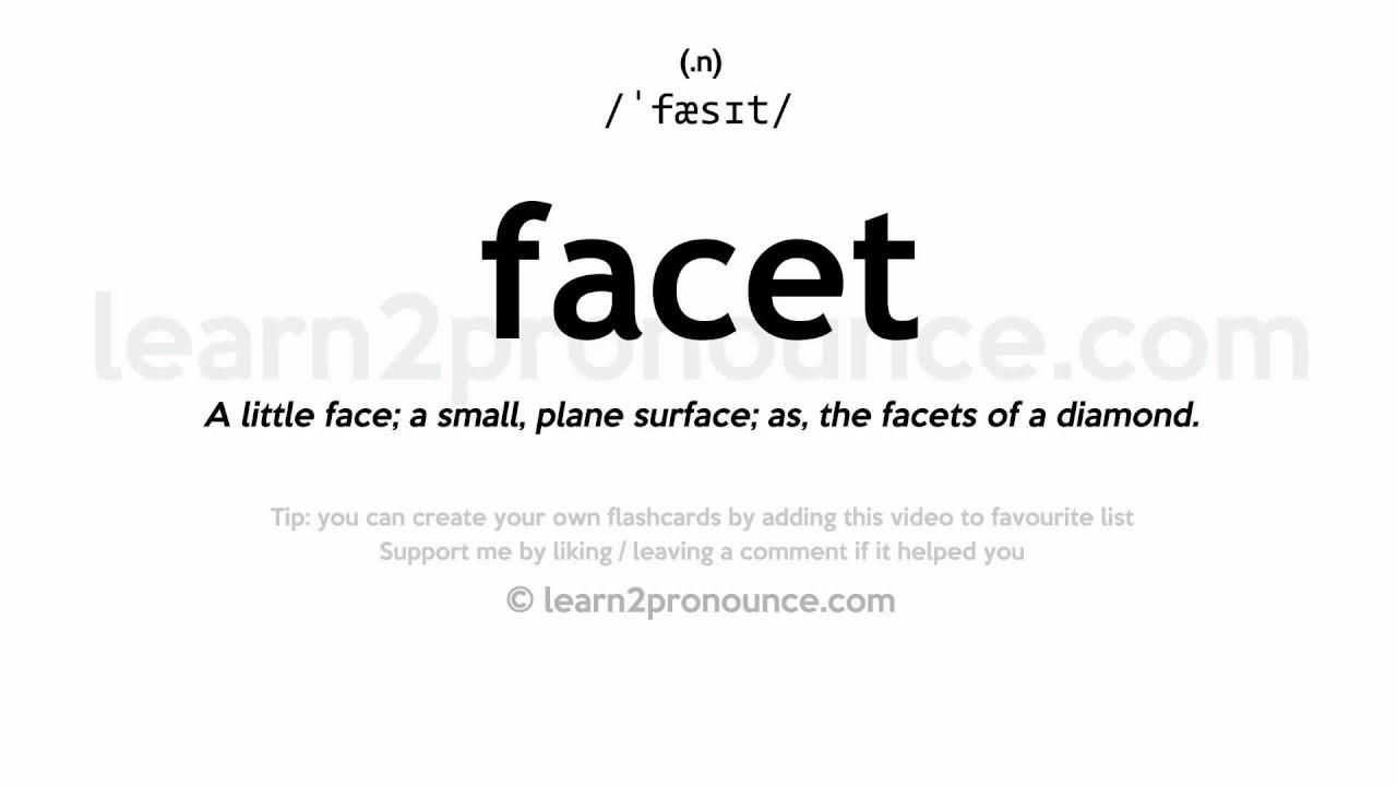 Amazing Facet Pronunciation And Definition