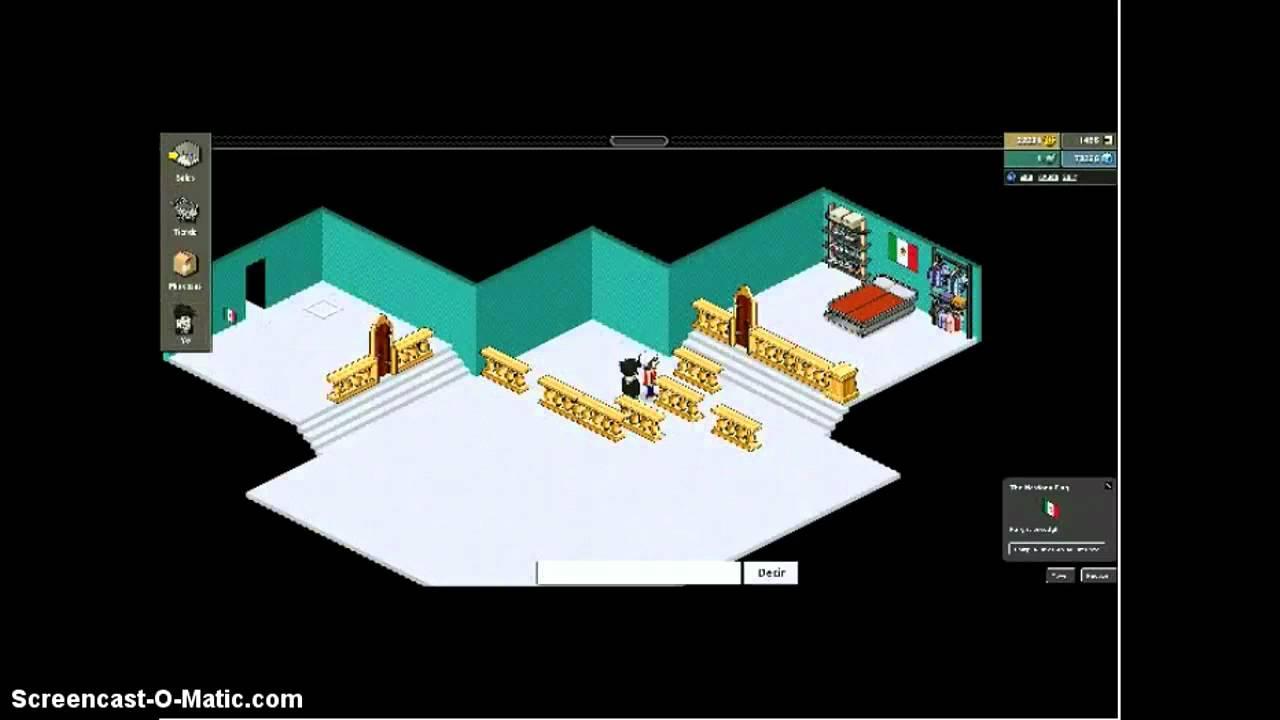 Como hacer una sala o tu casa en habbo kekos youtube for Como hacer una casa en habbo