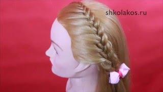 Ободок из французской косы прическа для девочки в школу
