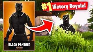 I played with BLACK PANTHER in Fortnite Random Duos! I CLUTCHED the Win! (Fortnite Battle Royale)