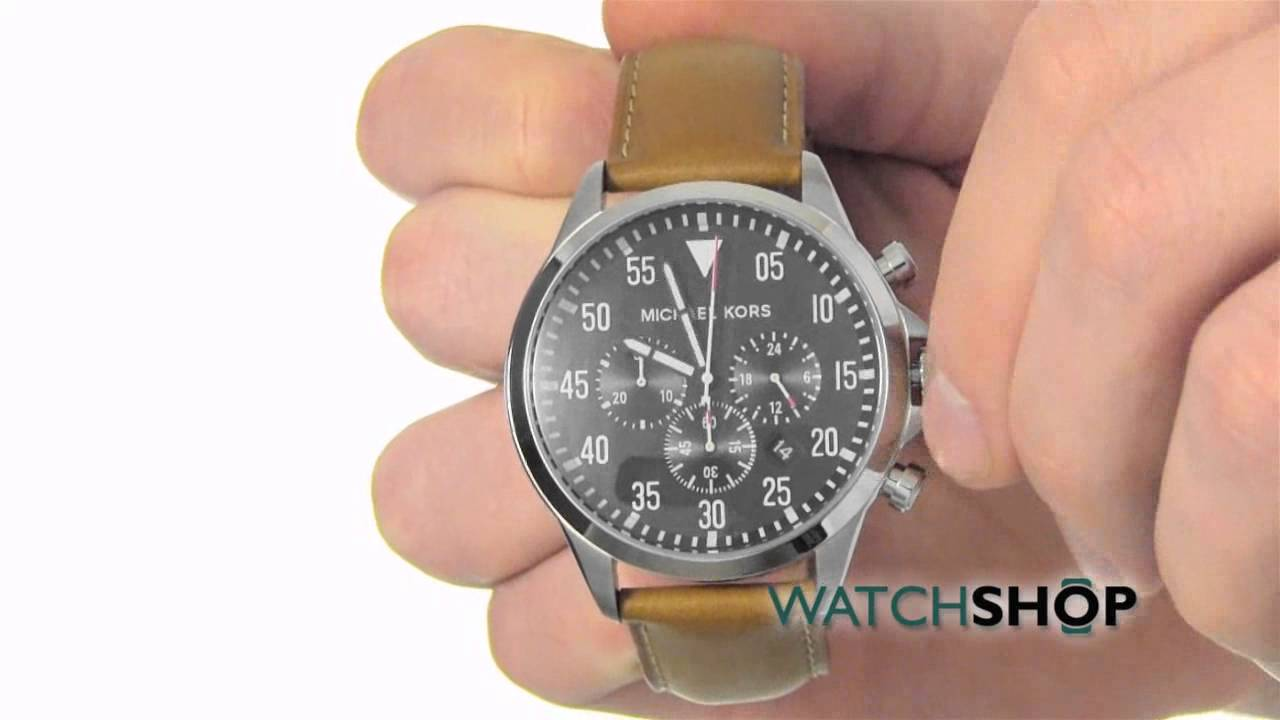 ae8d3320c Michael Kors Men's Gage Chronograph Watch (MK8333) - YouTube