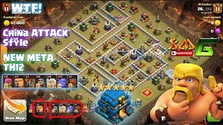 Clash of Clans⭐WTF!! CHINA ATTACK STYLE With NEW META DESTROY TH12 3-STAR