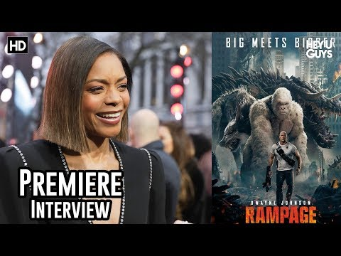 Naomie Harris - Rampage European Premiere Interview
