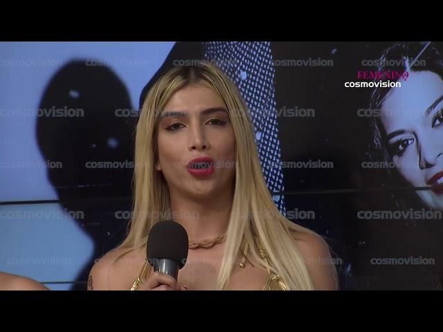 Kim Zuluaga realiza pasarela con sus amigas en el set de Muy Femenino Cosmovision