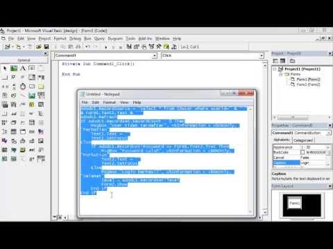 Cara Membuat Form Login Visual Basic 6.0