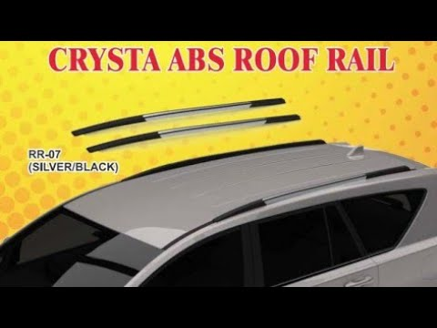 Crysta Abs Roof Rail Black Silver Car Accessories Full Installation Video Youtube