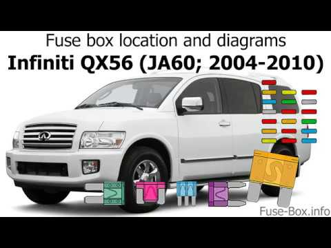 [SCHEMATICS_4HG]  Fuse box location and diagrams: Infiniti QX56 (2004-2010) - YouTube | Infiniti Qx56 Fuse Diagram |  | YouTube