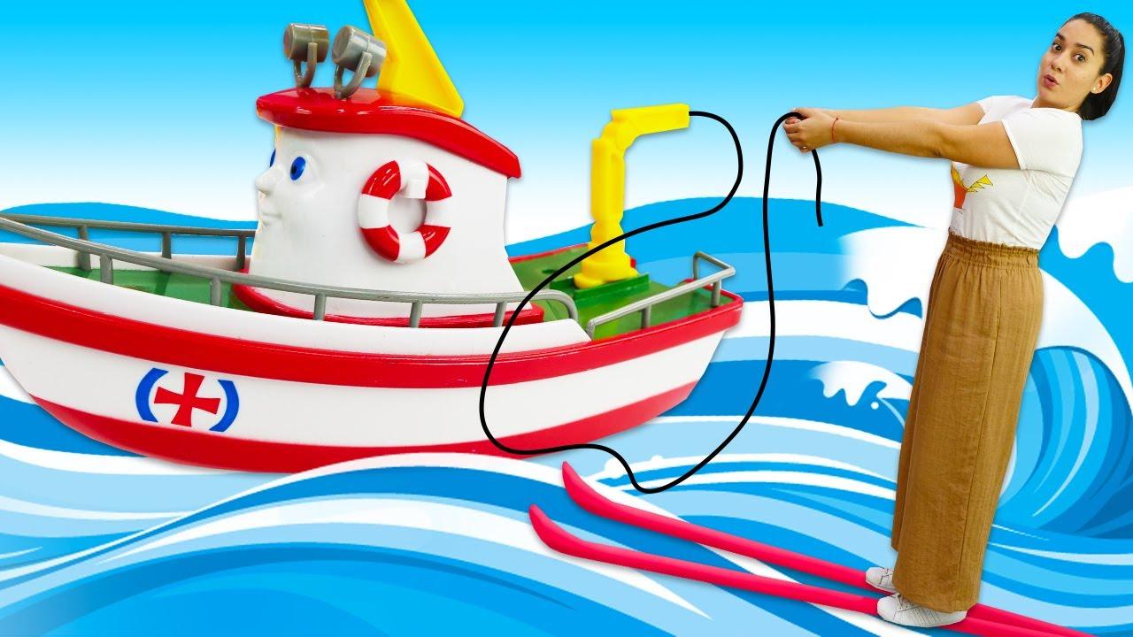 Spielzeug Kindergarten auf Deutsch. Elias das Boot und Freunde Angeln. Spielzeug Video für Kinder