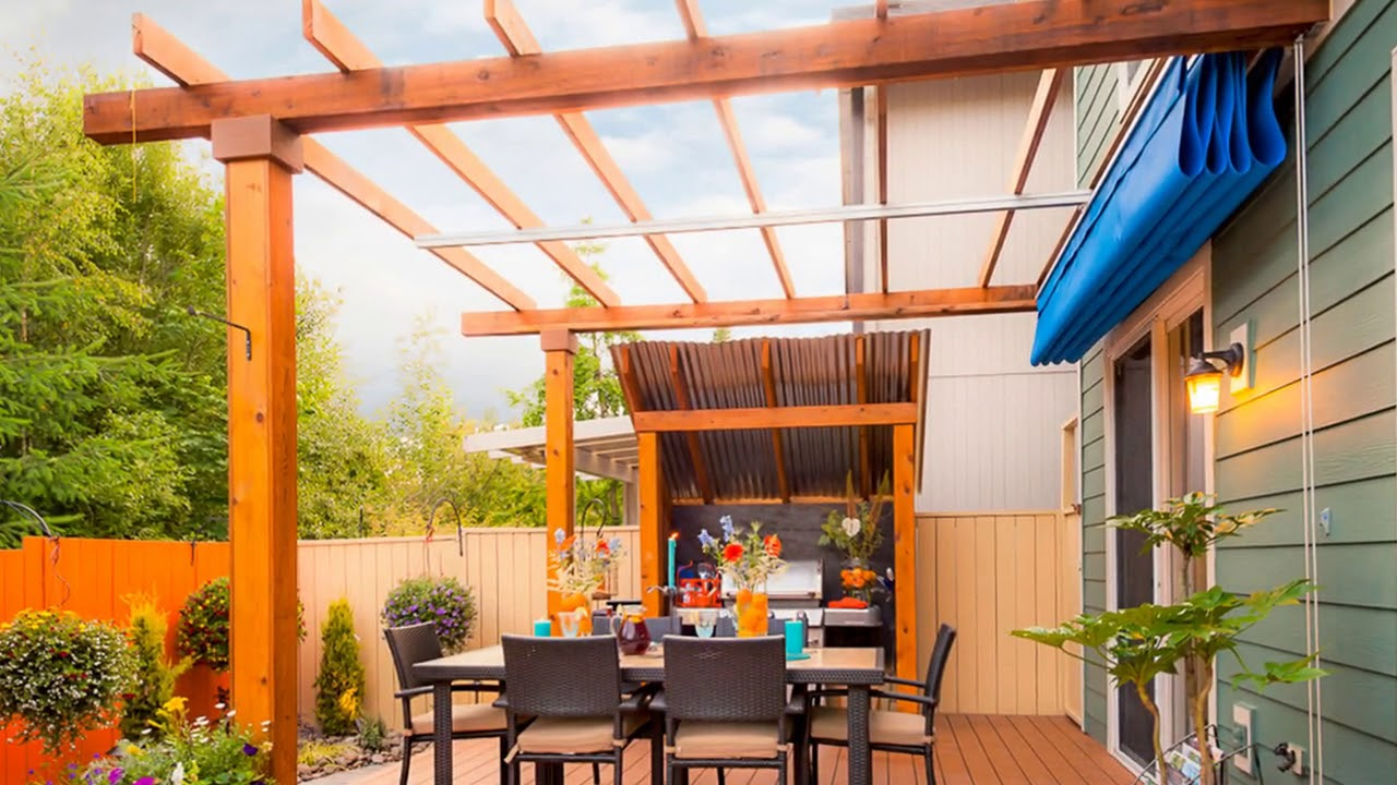 Retractable Patio Awning at Home Ideas - YouTube