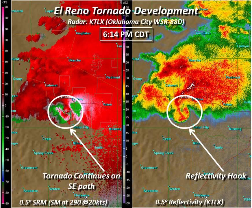 UPDATE: Radar Loop of the 5/31/13 El Reno EF 5 Tornado   YouTube