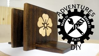 Make A Napkin Holder With A Cherry Blossom Inlay - 2015 Kitchen Utensil Challenge