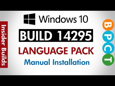 Windows 10 Build 14295- Install Language Pack (Offline