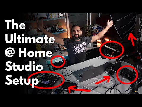 The ULTIMATE Home Video Studio for Live Streaming, Zoom & Presentations 3 Camera Setup in Small Area