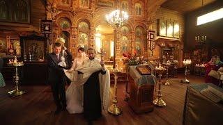 Видеосъемка венчания. Видеооператор на венчание СПб(Венчание в красивой деревянной церкви в Вырице под Санкт-Петербургом. Я снимаю на видео не всё венчание..., 2015-01-26T12:32:09.000Z)