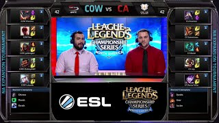 Curse Academy vs CompLexity White Game 2 | NA LCS Expansion Tournament 2015 | CA vs COW G2 60FPS